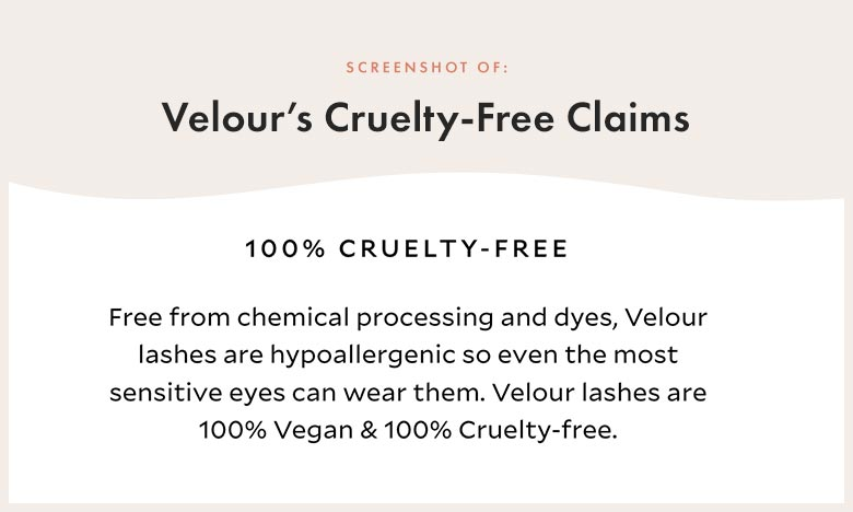 Velour Lashes Cruelty-Free Claims