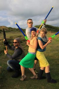 Ethical rebels pose in Charlie's Angel style
