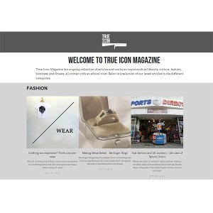 Website page of the True Icon magazine