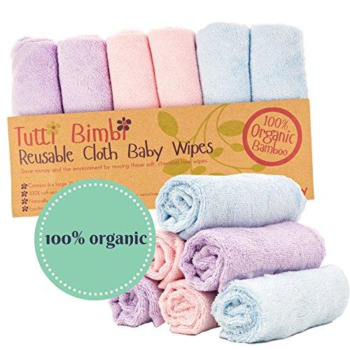 100/% Organic Bamboo Baby Washcloths Super Soft 4 Pack