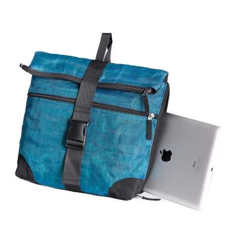 COMMA - Techno Ethical Backpack - Oil Blue - Detail