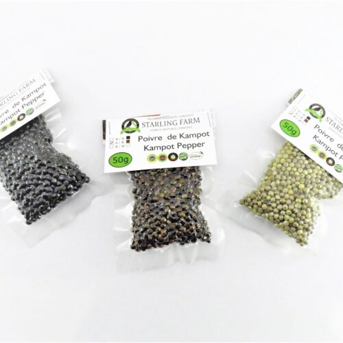 Kampot Pepper – Trio Black Red And White - 3x50g.