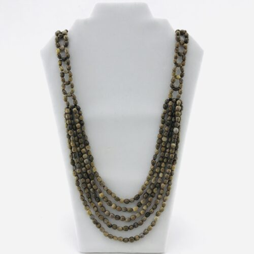 5 Multi Long – Natural Seeds Necklace