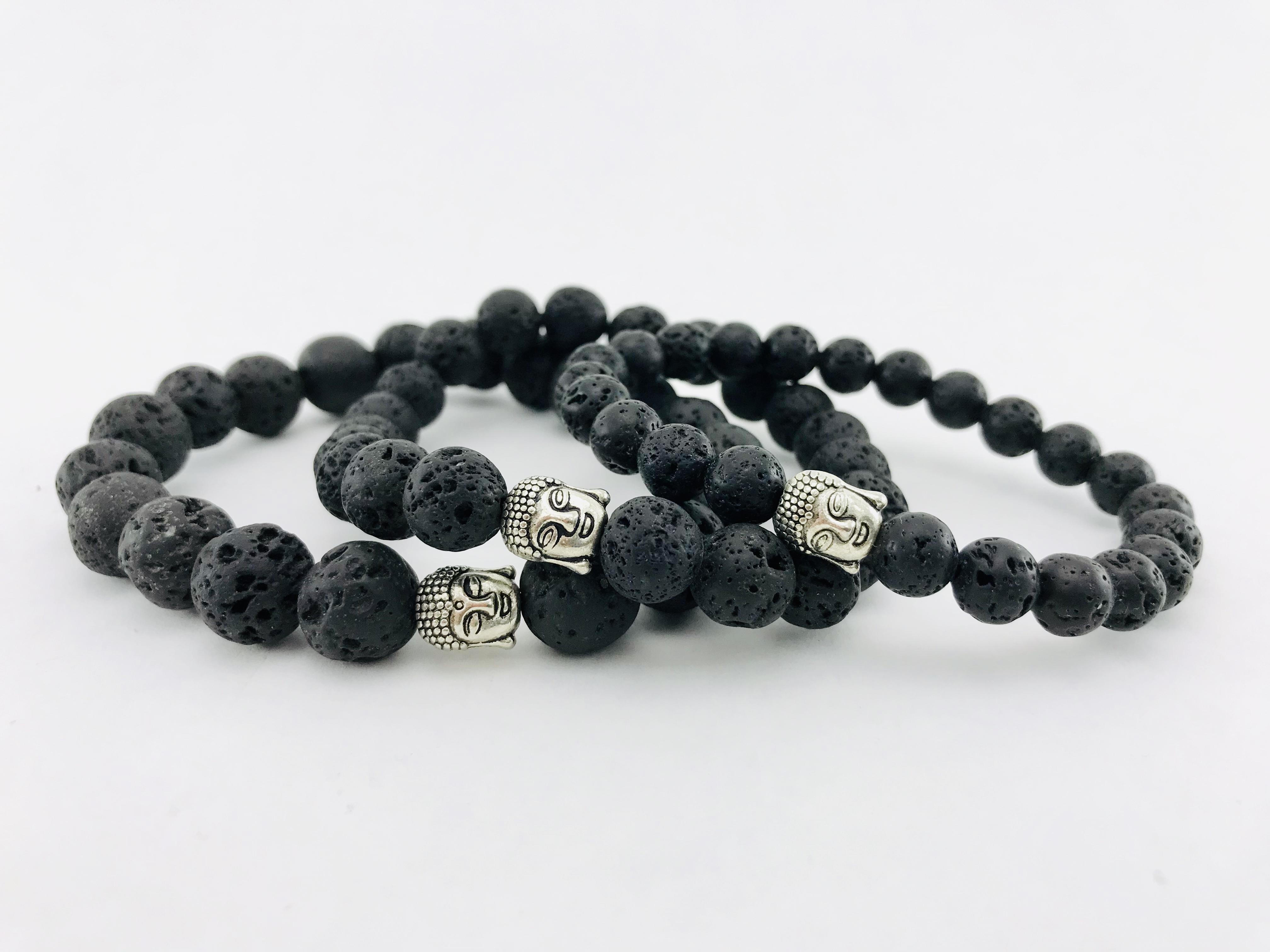 Le Bracelet Pierre De Lave - Trois Grandeurs