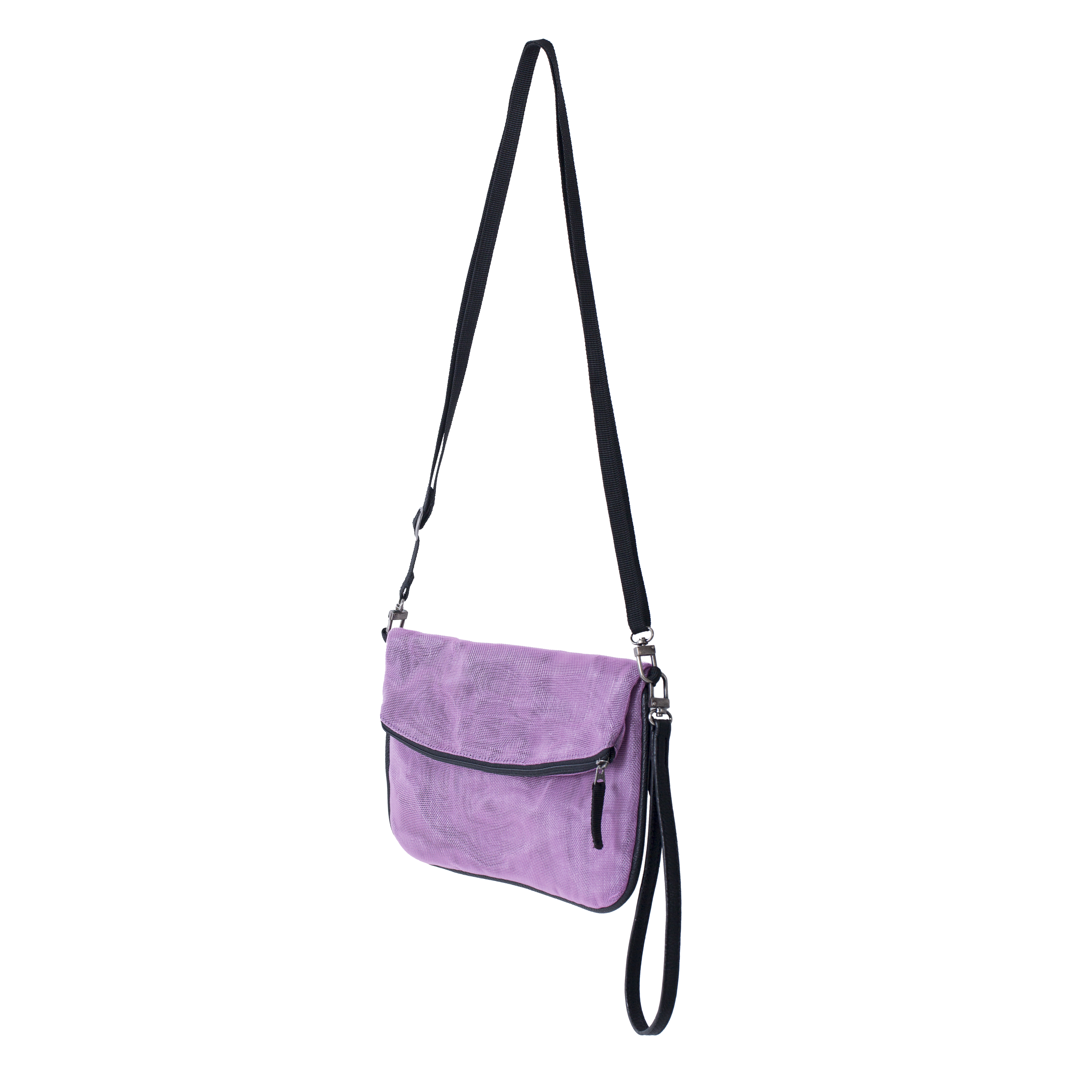 Sophea - Ethical Strap Wallet - Lilac - Side