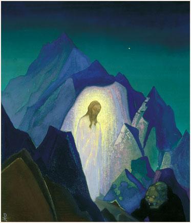 Христос в пустыне. 1933 Christ in the Desert Холст, темпера. 60,9 х 50,9