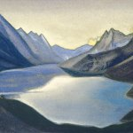 Озеро Нагов. Кашмир. 1945 The Lake of Nagas. Kashmir Картон, темпера. 30,6 х 45,7
