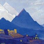 Ладак [Ле]. 1935–1936 Ladakh [Leh] Холст, темпера. 29,4 х 47,1