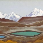 Горные озера. 1935–1936 The Mountain Lakes Холст, темпера. 29,7 х 47,2