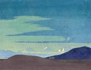 Картина Н.К.Рериха. Вблизи от тибетской границы 1927-1928