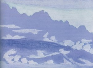 Картина Н.К.Рериха. Вблизи от тибетской границы 1928