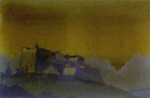 Картина Н.К.Рериха. Тибетская крепость 1925
