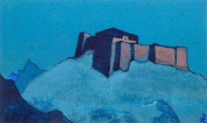 Картина Н.К.Рериха. Тибетский Дзонг. 1937