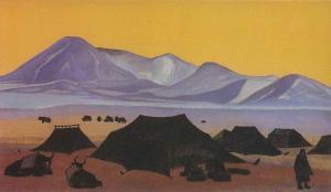Картина Н.К.Рериха. Тибетский стан. 1931