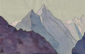 Картина Н.К.Рериха. Тибетский этюд (1) 1934