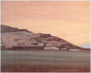 Картина Н.К.Рериха. Тингри-Дзонг. Тибет 1928