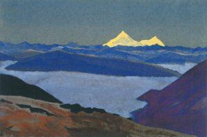 Картина Н.К.Рериха. Джелап-Ла, граница Тибета. 1936