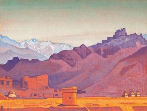 Картина Н.К.Рериха. Дорога в Тибет (Путь на Тибет) 1925