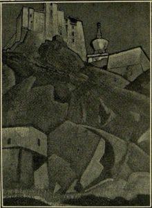 Картина Н.К.Рериха. Лахуль. Лех (Тибет) 1925