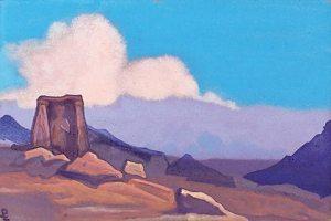 """Картина Н.К.Рериха. Майтрейя - Тибет. [Этюд к картине """"Майтрейя""""] 1937"""