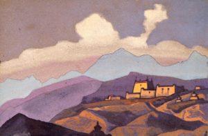 Картина Н.К.Рериха. Монастырь Тзанг. Тибет. [Монастырь. Цанг, Тибет] 1936