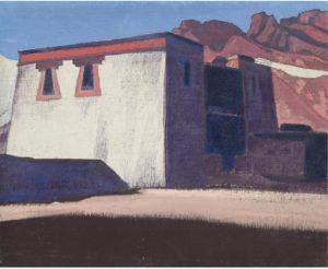 Картина Н.К.Рериха. Монастырь Шаругён, Тибет. 1928