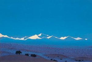 Картина Н.К.Рериха. Нань-Шань. [Наньшань. Граница Тибета] 1936