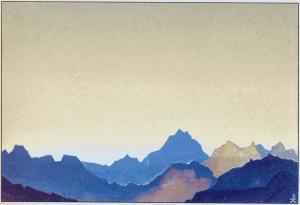 Картина Н.К.Рериха. Нату-Ла. Граница Тибета. 1935-1936