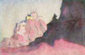 Картина Н.К.Рериха. Твердыни Тибета 1932