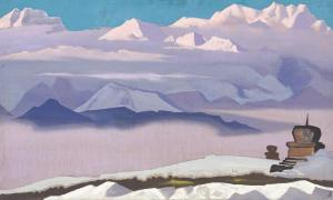 Картина Н.К.Рериха. Тибет
