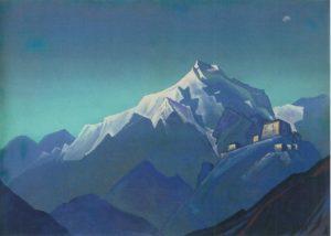 Картина Н.К.Рериха. Тибет [Тибет. Монастырь] 1944