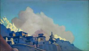 Картина Н.К.Рериха. Тибет 1938