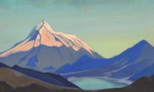 Картина Н.К.Рериха. Тибет (Утро) 1940 или без даты