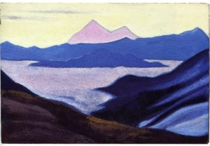 Картина Н.К.Рериха. Тибет. 1942