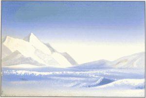 Картина Н.К.Рериха. Тибет. [Тибет [Сиреневые тени]] 1942