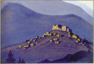 Картина Н.К.Рериха. Тибет. [Тибет [Селение]] 1940