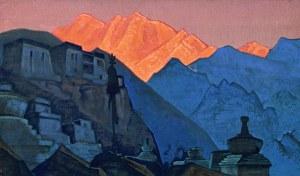 Картина Н.К.Рериха. Тибет. Горящая вершина 1933 (?)