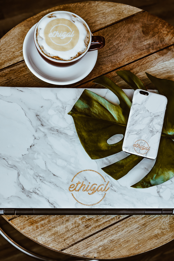 Ethigal Logo Custom Cell Phone Case and Laptop Skin - Case App