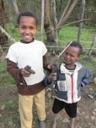 Yohannes made toys from mud!