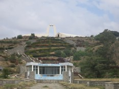On top of the hill is the Oromia monument