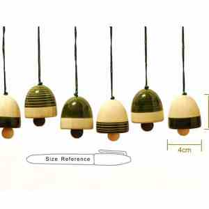 wooden bells decorations sold by Ethiqana a shop specialising in eco friendly products, earth friendly products and sustainable products.