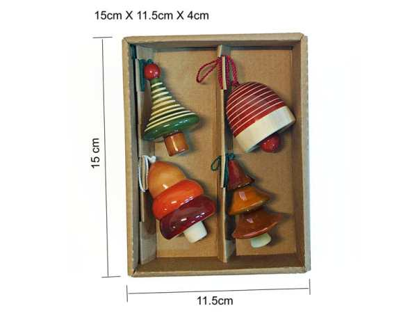 wooden decorations sold by Ethiqana a shop specialising in eco friendly products, earth friendly products and sustainable products.