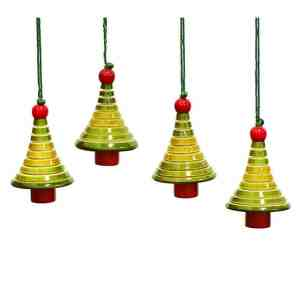 christmas tree decorations sold by Ethiqana a shop specialising in eco friendly products, earth friendly products and sustainable products.