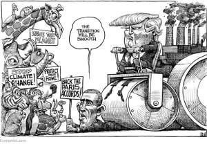 Kal - cartonist van The Economist - vatte het opnieuw in 1 beeld