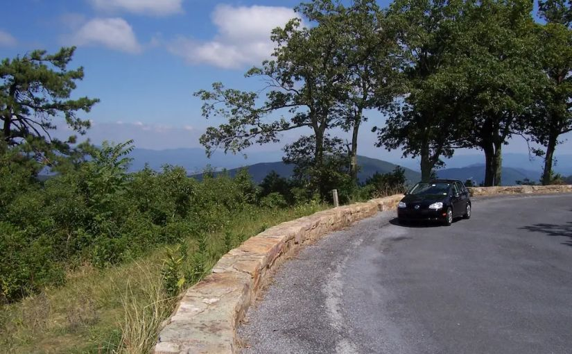 My VW Rabbit on Skyline Drive; https://i.ethitter.com/roadway/skyline-drive/
