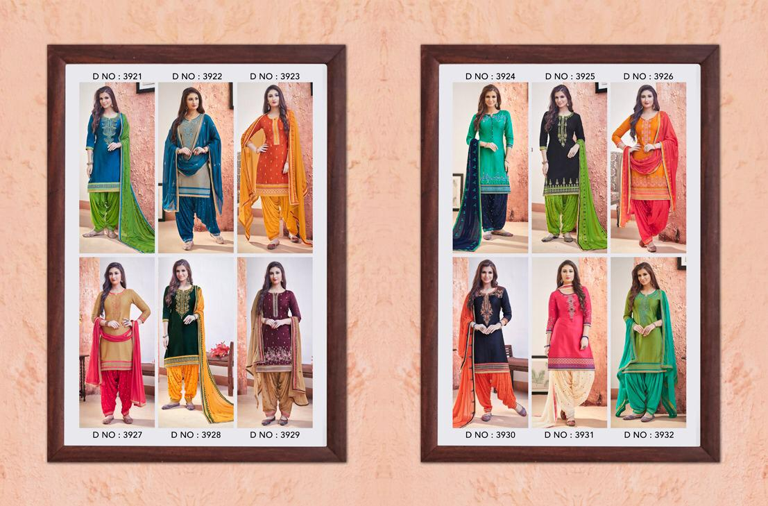 71263cd2c8 Published on January 29, 2019 in Kessi Fabrics Patiala House Vol 68  Designer Cotton Satin with embroidery Work Dress Material Dealer SuratFull  resolution ...