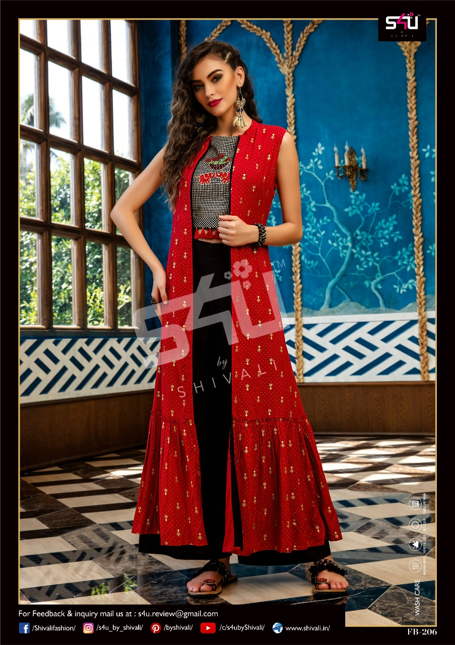 052afb342b Download Image Zip · Download PDF. S4U Shivali Fusion Beats Vol 2 Printed  Fancy Fabric Readymade Crop Top with Bottom ...
