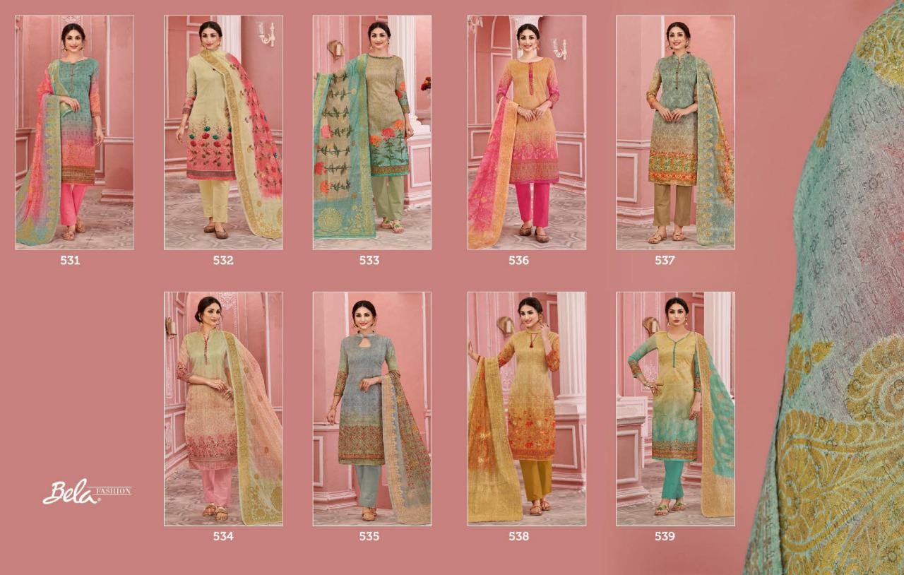 Bela Fashion Sofia Digital Printed Chanderi Dress Material Collection At Wholesale Rate