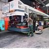 Entretien d'un autobus R312 au centre bus de Lagny