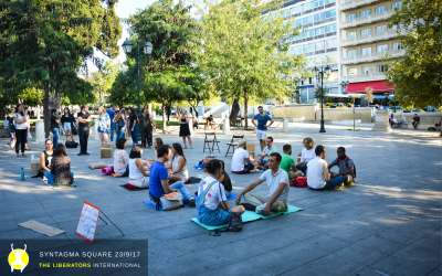 The world's biggest eye contact experiment 23/09/2017 – Athens, Syndagma square